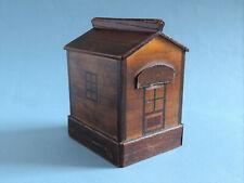 Antique Folk Art Treen House Puzzle Money Bank c1890