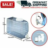 Water Jug Dispenser Container Bottle Beverage Clear Built In Handle BPA Free