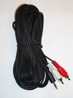 """25Ft 3.5mm 1/8"""" Mini Plug to 2 RCA Male Stereo Audio Cable"""