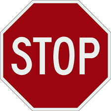 stop sign 18x18 aluminum 3M engineer prismatic reflective