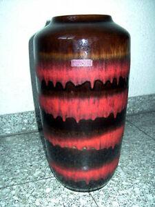 Vase 60s 70s Mid Century Scheurich Lounge Lava 38,5 cm