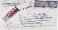 1956 Sheraton-Gibson Hotel Airmail Cover (Cincinnati, OH to Bartlesville, OK)