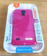 Mobile Phone Case Cover High Gloss Pink Slim Fit Samsung Galaxy S4 Mini Cygnett