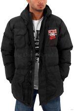 Ecko, Men's Designer Parka Jacket, Puffer Padded Hooded, Winter, Is Time Money,