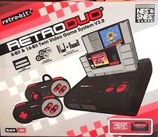 New RetroDuo SNES & NES Dual 2in1 System - Black/Red