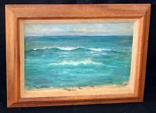 "1920s Kauai Oil Painting ""Koloa Coast"" attrib. Alfred Gurrey (1852-1944) (New)"