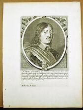 Charles X Gustave Karl X Gustav roi de Suède maison de Wittelsbach Gravure XVIIe