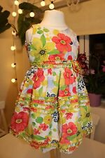 SARAH LOUISE- VINTAGE SPANISH -FLORAL COTTON PARTY DRESS - BABY GIRL 12 MONTHS