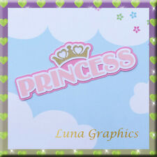 PRINCESS TITLE Embellishment card toppers and scrapbooking