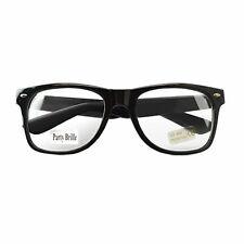 NERD Brillen Clear Retro Nerd-Brille Hornbrillen Party Atzen Streber ohne Stärke