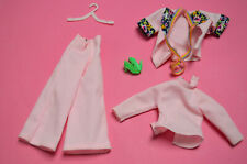 vintage PETRA PLASTY doll fashion : 5837 rosa Hosen Set need TLC baity!