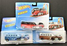 Lot of 3 Hot Wheels Custom Volkswagen Haulers Track Stars Red Blue & Brown