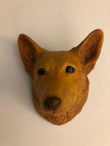 Vintage Bossons Chalk Ware Corgi collectible dog head plaque