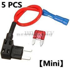 5x ATM Add Circuit Mini Blade Fuse Boxe Holder + 10A ATO ATC Piggy Back Tap New