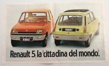 Pubblicità epoca 1972 AUTO RENAULT 5 CAR advertising publicitè werbung reklame