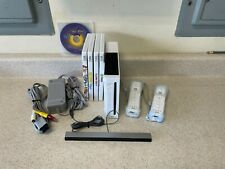 Nintendo Wii Console Bundle w/ 2 Controllers, 5 Games
