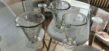 Alte Alter Glas Messbecher 3 Stk Wilmking , Poncet , und..