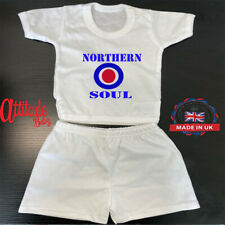 Baby Shorts & T Shirt Set-Printed-Northern Soul-Mod Baby Grows-Mod Baby Vest