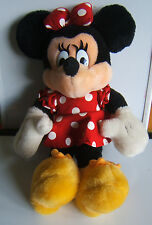"Disney Minnie Mouse Plush Doll Stuffed Toy 14"" Mickey for Kids Red Dress"