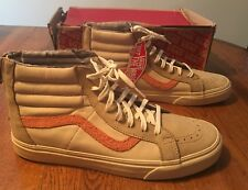 be3f548a61331d Vans Sk8 Hi Zip + Skate Leather Nubuck Suede Starfish Shoes Men s 11.5 NIB
