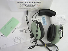 David Clark H7030 Headset with Boom Mounted Dynamic Microphone P/N 12510G-01