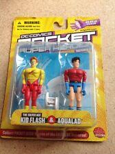 DC COMICS POCKET SUPER HEROES SERIES 2 KID FLASH & AQUALAD NOC 2003