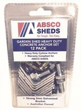 Absco Sheds Garden Shed Heavy Duty Concrete Anchor Set 12 Pack