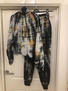 BNWT AllSaints Pippa Tie Dye Loungewear Set Hoodie & Joggers Size XS