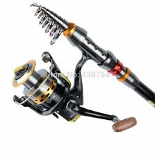 Carbon Fiber Telescopic Fishing Rod Portable Spinning Pole Travel Sea Boat Rock