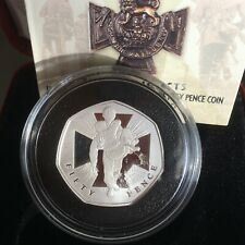 GB COIN 50P 2006 VICTORIA CROSS GEM MINT PROOF SOLID .999 SILVER CERT & CASE
