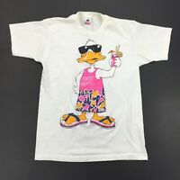 Vintage T-Shirt 1986 Party Animal Custom Paint, single stitch stained derelict