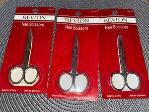 REVLON NAIL SCISSORS X3