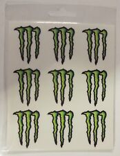 KIT ADESIVI MONSTER ENERGY GRAFFIO STICKERS DECALCO FOGLIO 13,5 X 16 CM