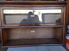 Antique Globe Wernicke Co. Oak Barrister Bookcase 2 Sections one door.