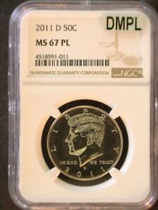2011 D Kennedy MS 67 PL MAC DMPL Nice Eye Appeal Clean Slab Problem Free Coin