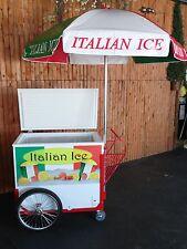 New ITALIAN ICE CART w/Umbrella & Graphics Water Ice Vendor Concession
