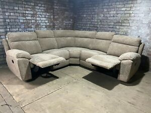 Baron Fabric Manual Recliner Corner Group Sofa - Mocha RRP £1999