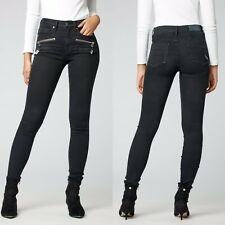 NWT Parasuco 8017BB High Rise Jackie Fit Black Skinny Jeans 27x32