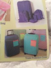 Large Suitcase Protector. New. Multi Colour
