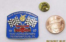 1997 FOE Convention Indianapolis IN Membership Car Auto Racing Lapel Pin Pinback