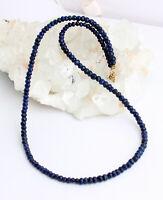 Natur Lapislazuli Kette Edelsteinlkette Facettierte blau lapis Lazuli Collier