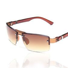 Men's sports double-beam sunglasses Windproof shade brown sunglasses