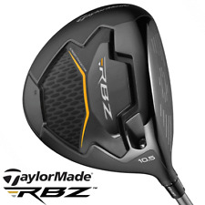 """NEW 2019"" TAYLORMADE RBZ BLACK DRIVER 10.5° +STIFF MATRIX WHITE TIE X4 SHAFT"