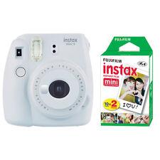 Fujifilm Instax Mini 9 Instant Film Camera Smokey White + 20 Sheets Instant Film
