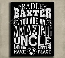 Uncle Amazing Custom Plaque Tin Sign Gift From Niece Nephew Sister Brother Fa...
