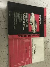 1989 TOYOTA SUPRA Service Shop Repair Workshop Manual Set OEM W EWD