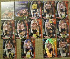 SUNDERLAND 14 x WIZARD OF THE COAST FOOTBALL CHAMPIONS 2001-02 Cards