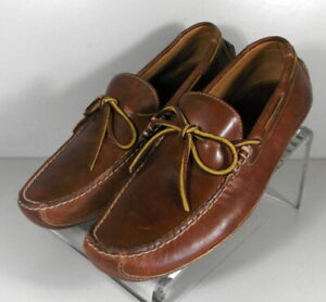 301920 TSP50 Men's Shoes Size 9 M Brown Leather Driving Shoes H.S. Trask