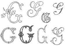 BRODERIE ANCIENNE Lettre G, 57 modèles, tous en photos dans l'annonce