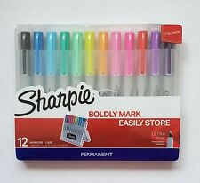Sharpie Boldly Mark Ultra Fine Point Permanent Markers 12 Marker Colors & Case
